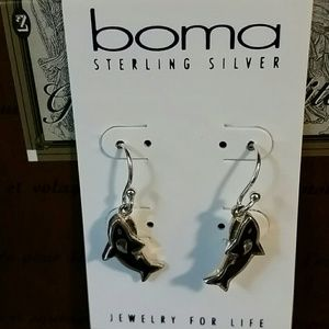 boma Sterling Silver Fish Earrings